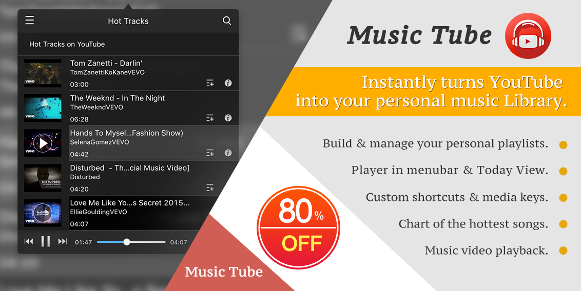 Music Tube « Mac App Deals & Mac App Store Discounts — Two Dollar
