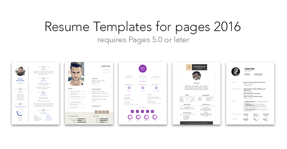 Resume Templates For Pages  Mac App Deals  Mac App Store