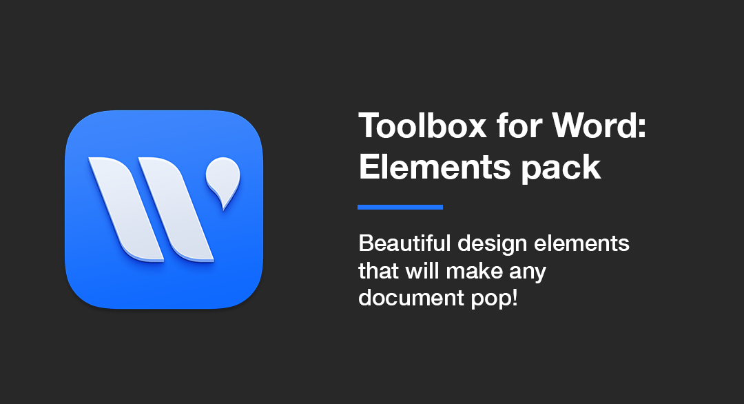 Toolbox for Word: Elements pack